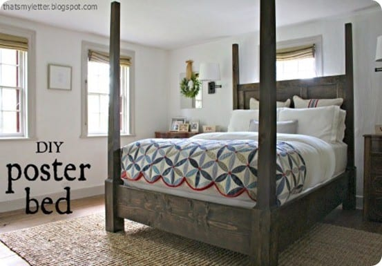 Statement Making Poster Canopy Bed