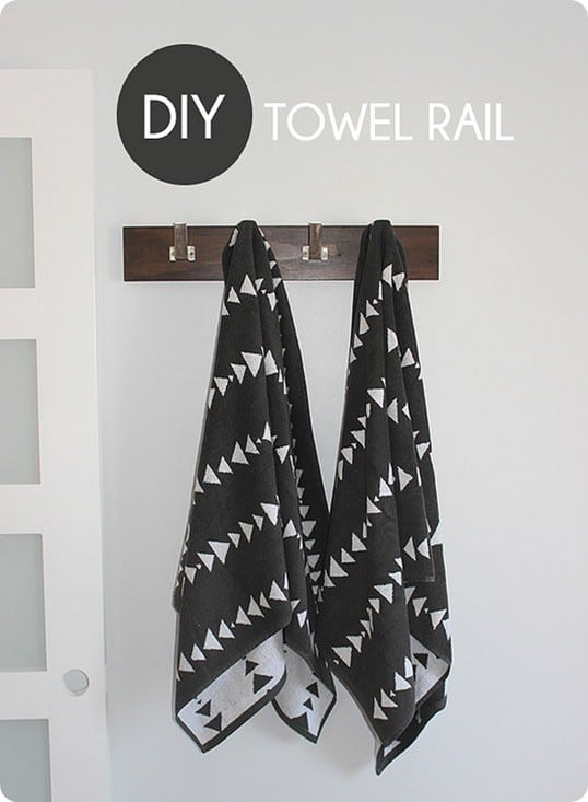 diy towel coat rack