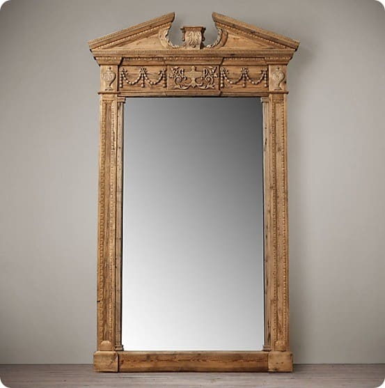 entablature mirror