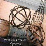 Industrial Wood and Metal Spheres
