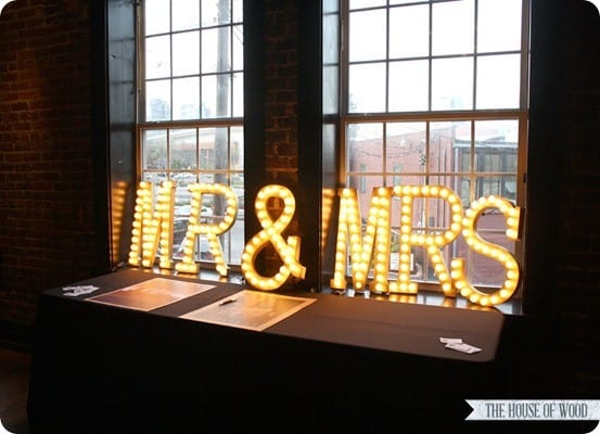 Wall Decor Light Up Letters : Light Up Wedding Marquee Letters