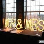 Light Up Wedding Marquee Letters