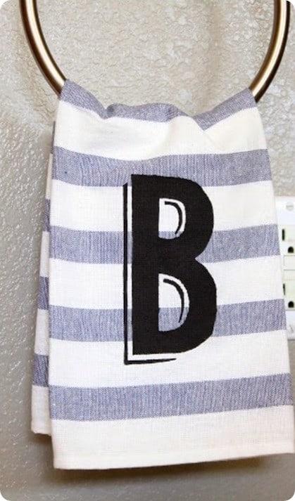 monogram hand towel