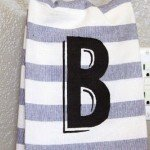 monogram hand towel