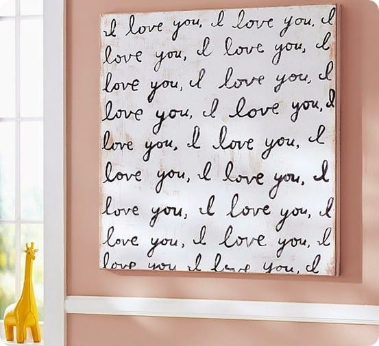 I Love You Nursery Wall Canvas Knockoffdecor Com