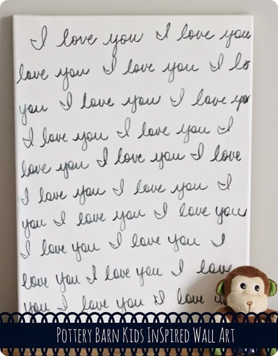 I Love You Nursery Wall Canvas