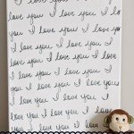 """I Love You"" Nursery Wall Canvas"