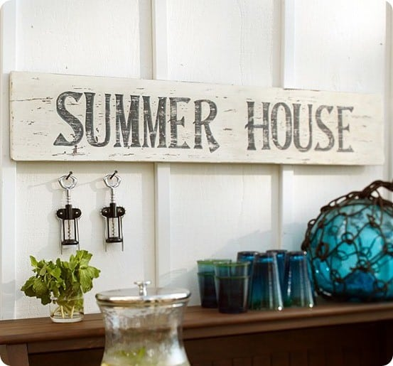 pottery barn summer house sign