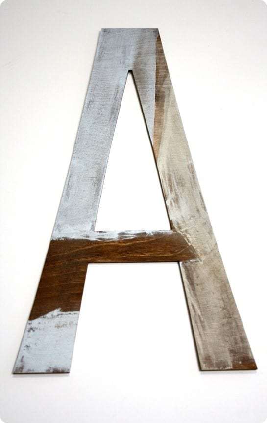reclaimed wall letter