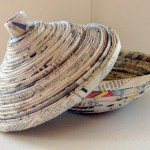 Recycled Newspaper Decorative Bowl