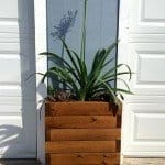 Planked Wood Outdoor Planter