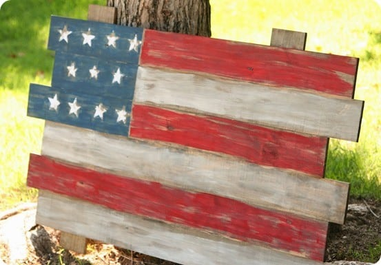 scrap wood american flag fourth of july