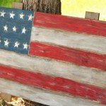 Scrap Wood American Flag Wall Art