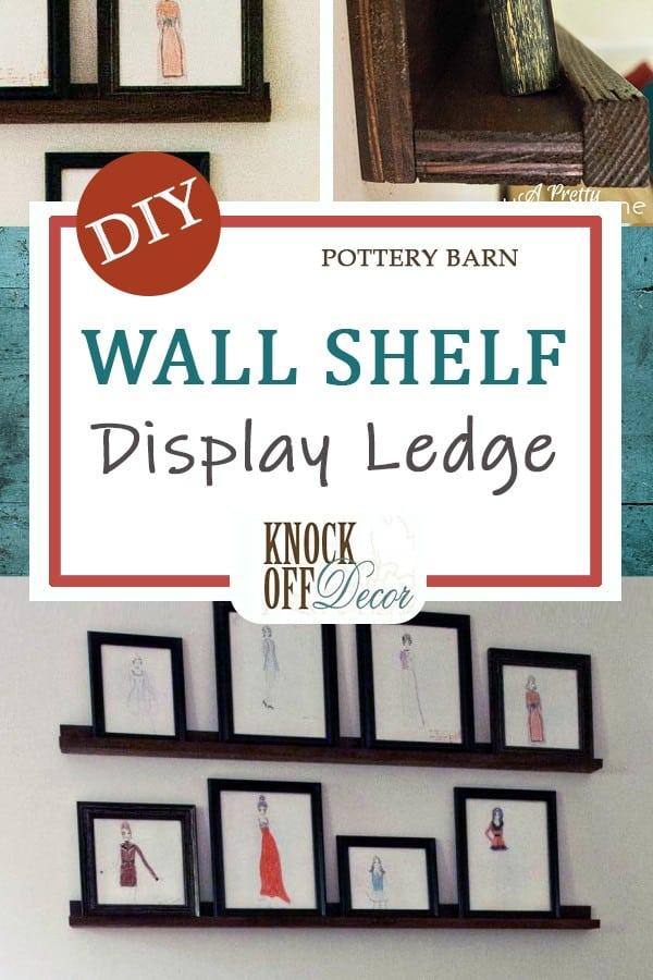 Wall shelf display ledge