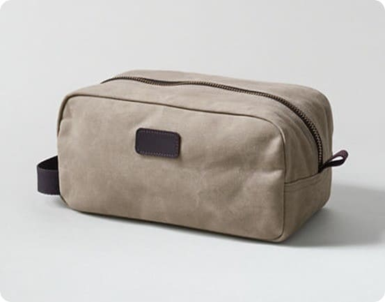 waxed canvas travel kit