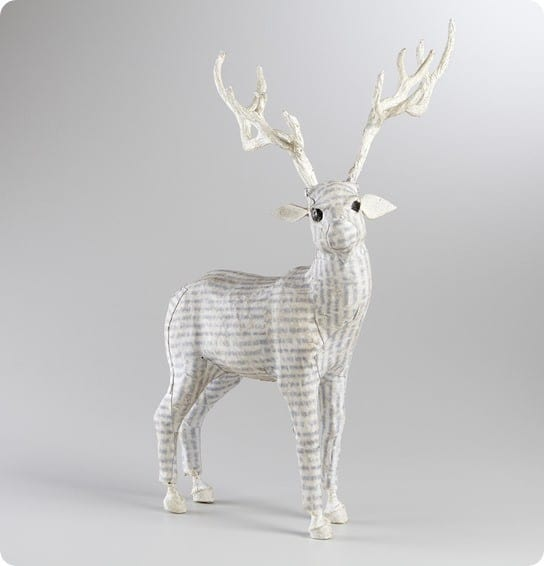 white canvas standing reindeer from world market