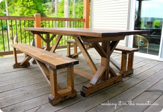 How To Make A Farmhouse Dining Table Knockoffdecor Com