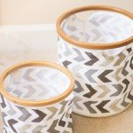 Chevron Painted Storage Bins
