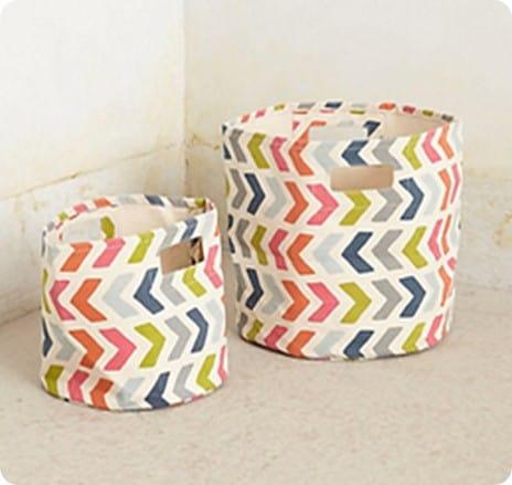 Chevron Pop Canvas Basket