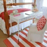 Coral Painted Stripe Rug