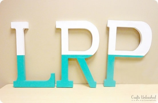 PB Teen inspired dipped wall letters