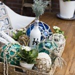 Glass Fishing Buoy Summer Centerpiece