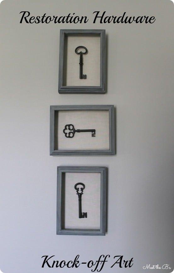 Key Shadow Box Wall Art
