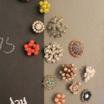 Jewelry Magnets from Old Earrings