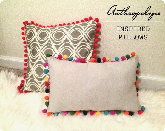 anthropologie inspired pillows