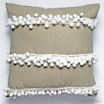 Pom-Pom Trim Embellished Pillow