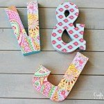 Bright and Bold Decoupage Wall Initials