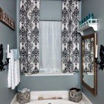 Damask Stenciled Drop Cloth Curtains
