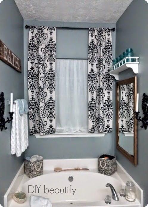 Damasking Stenciled Drop Cloth Curtains Knockoffdecor Com
