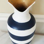 Bold and Beautiful Painted Stripe Vase