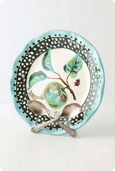 crossed spoons plate stand