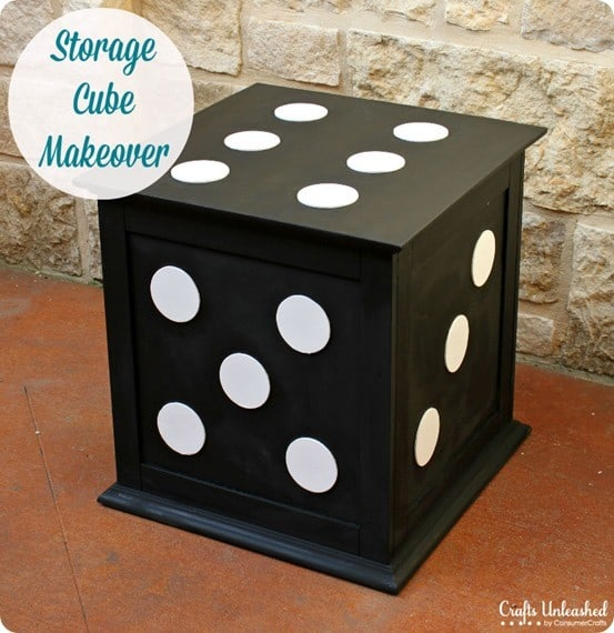 Dice Storage Ottoman Makeover