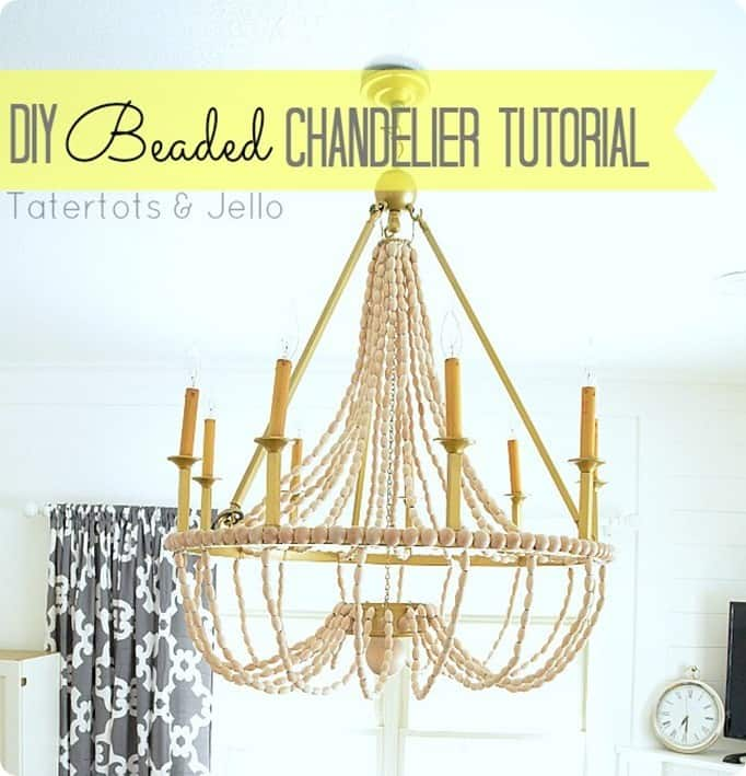 diy beaded chandelier