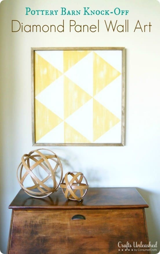 diy diamond panel wall art