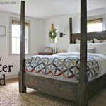 Statement-Making Poster Canopy Bed