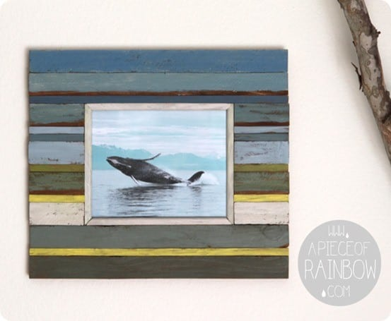 faux boat wood frame