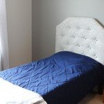 $20 Upholstered and Faux Tufted Headboard