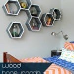 5 Steps to Make Honeycomb Shelves (AND Wall Art at The Same Time)