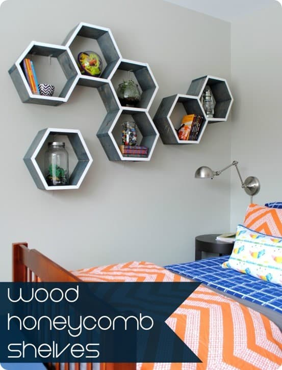 5 Steps To Make Honeycomb Shelves And Wall Art At The