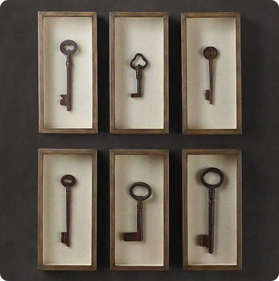 Key Decorations: Key Shadow Box Wall Art