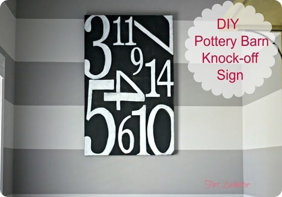 knock off pottery barn sign