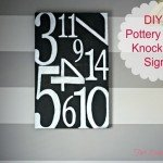 Oversized Numbers Sign (with Meaning!)