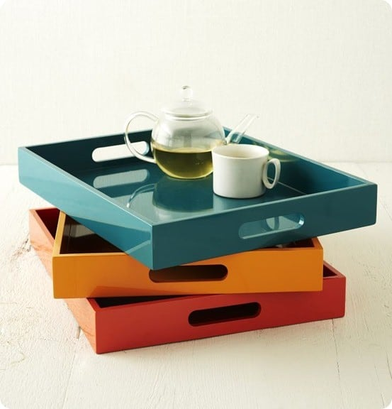 lacquer trays west elm