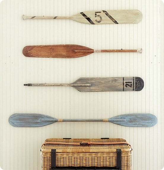 Wood Paddle Wall Decor : Weathered oar and paddle wall d?cor