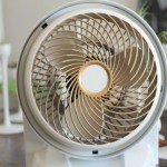 Spray Painted White and Gold Fan