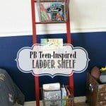 pb teen inspired ladder shelf